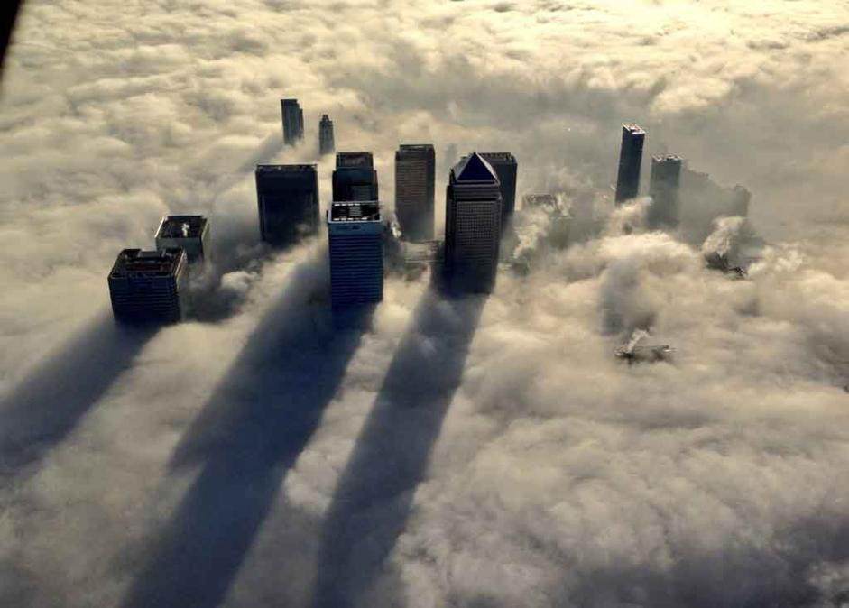 Stunning Images of London covered in Fog